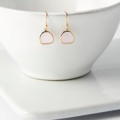 Soft Pink Gold Raindrop Earrings