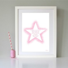 Personalised a star is born child's art print (various colours)