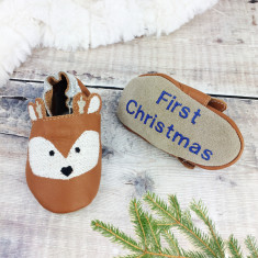 Personalised Deer Fawn Baby Shoes