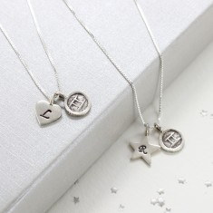 Personalised Sterling Silver Zodiac Disc Charm Necklace