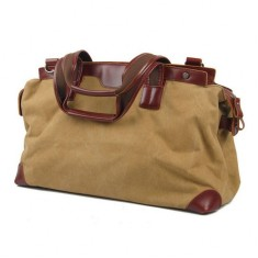 Canvas weekend duffle bag travel bag