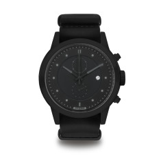 Hypergrand maverick chronograph blackout with classic black leather