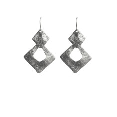 Square dangles in silver
