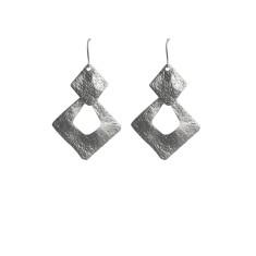 Square dangles in silver
