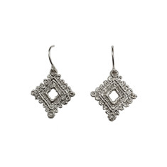 Square doily earrings