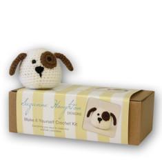 Make-it-yourself crochet puppy kit