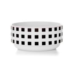 Squares stacking bowl in black