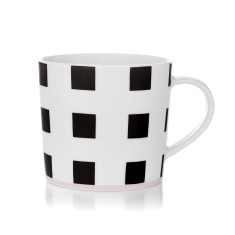 Squares coffee mug in black