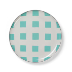 Squares side plate in mint