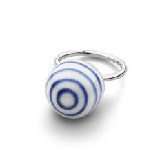 Anne Black Stripes Large Ball Ring