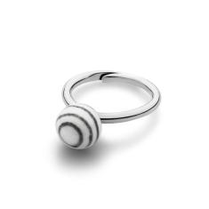Anne Black Stripes small ball ring