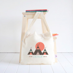 Tribal personalised library bag