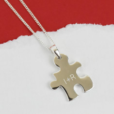 Jigsaw Initial Personalised Sterling Silver Necklace