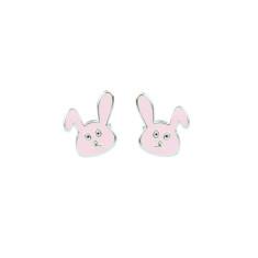 Easter personalised bunny sterling silver stud earrings