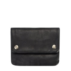 Norma leather wallet in black