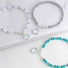 Gemstone Ocean Charm Bracelet