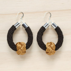 Safari earrings in black with slate