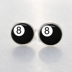 Eight ball lucky cufflinks