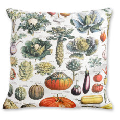 Vegetables linen cushion cover