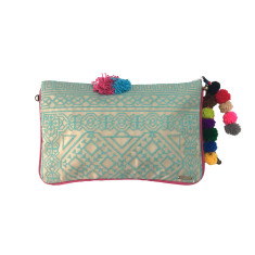 Kavali Pocket Clutch - Jade