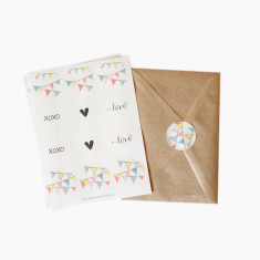 An April Idea bunting sticker set