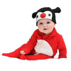Lil' ladybird baby & toddler costume with hat