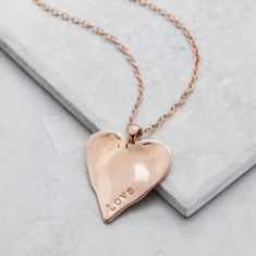 Rose & Gold Maxi Heart Necklace