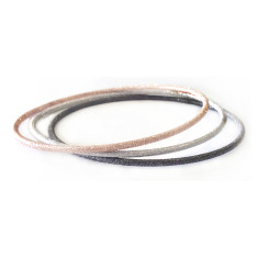 Sterling silver diamond cut bangle set