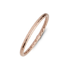 Textured rose gold bangle