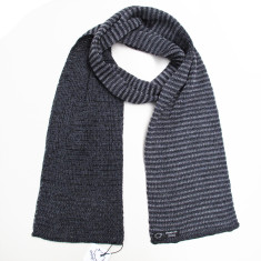 Striped reversible merino scarf