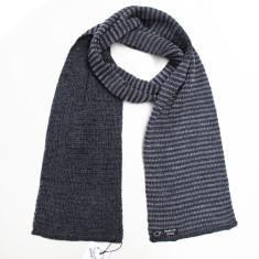 Striped reversible merino scarf