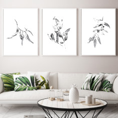 Eucalyptus art prints (set of 3)