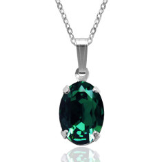 Swarovski crystal oval necklace (various colours)