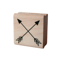 Crossed arrows rubber stamp