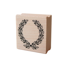 Wreath rubber stamp