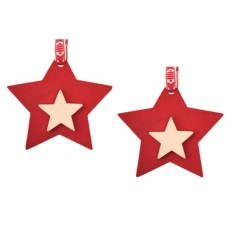 Star-on-star hanging decoration (2-pack)