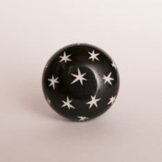Starry nights black knob/drawer pull