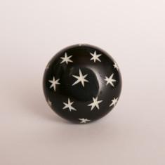 Starry nights black knob/drawer pull