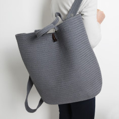 Santorini Market Backpack in Grey