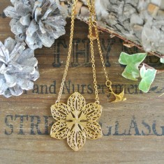 Stella gold filigree necklace