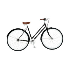 Ladies vintage bicycle in gloss black
