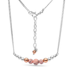 Sterling silver pink howlite necklace