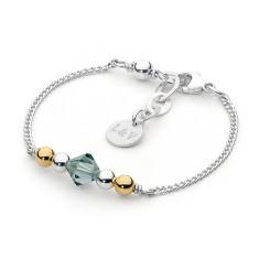 Sterling Silver Topaz Swarovski Crystal Bracelet