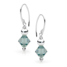 Sterling silver and topaz Swarovski crystal earrings