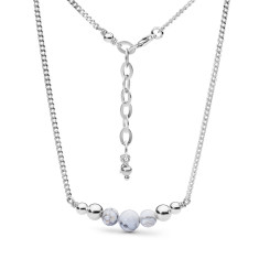 Sterling silver white howlite necklace