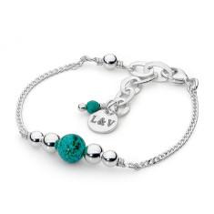Sterling silver howlite fine bracelet
