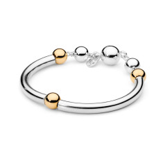 Sterling silver tube bracelet with magnetic clasp