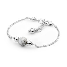 Sterling silver white howlite fine bracelet