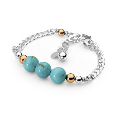 Sterling silver howlite bracelet