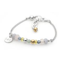 Sterling silver pastel friendship bracelet
